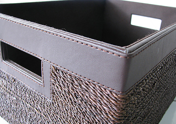 アジアン雑貨 アバカの収納ボックス AB-008