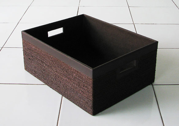 アジアン雑貨 アバカの収納ボックス AB-009