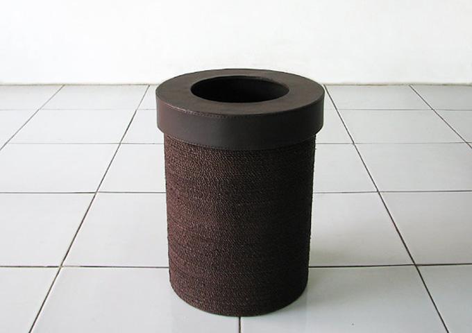 アジアン雑貨 アバカのゴミ箱 AB-013