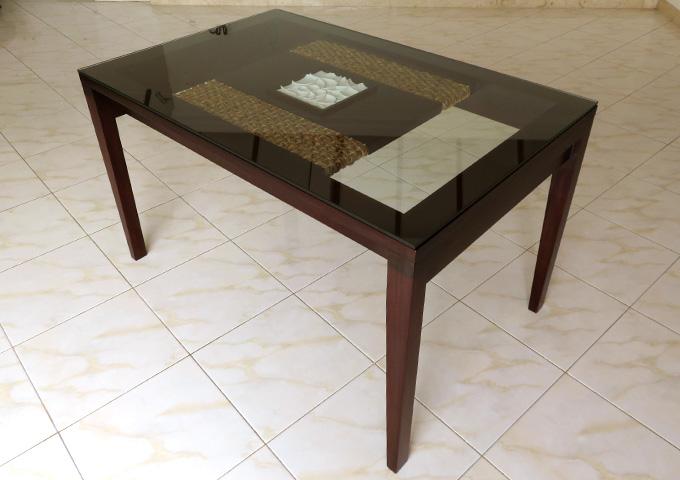 アジアン家具 ウォーターヒヤシンスのダイニングテーブル CC-WDT-03