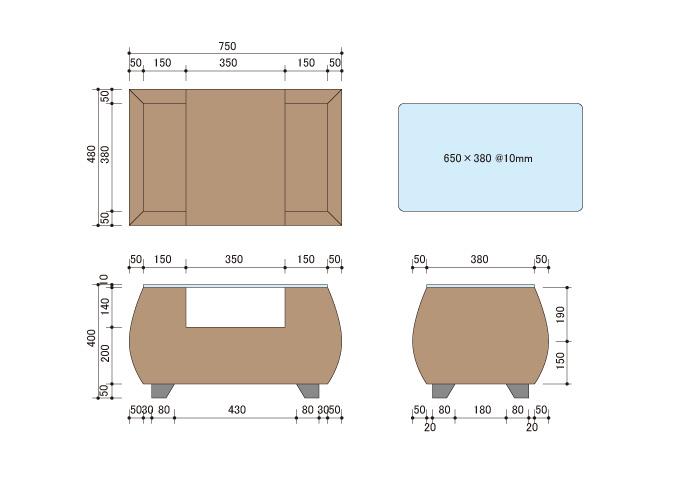 アジアン家具 ウォーターヒヤシンスのテーブル CC-WLT-07