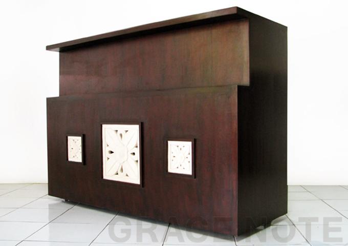アジアン家具 ウォーターヒヤシンスのカウンター PT-005