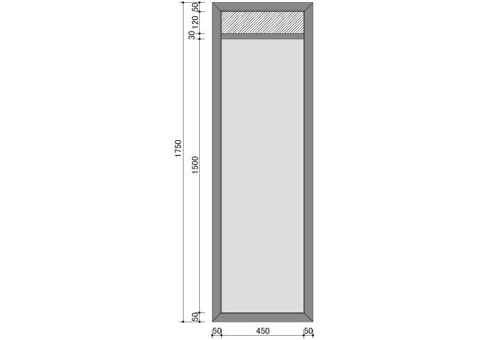 アジアン家具 ウォーターヒヤシンスの姿見鏡 SMR-02
