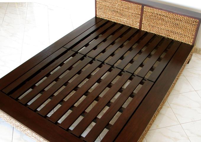 アジアン家具 ウォーターヒヤシンスのベッド WBD-01
