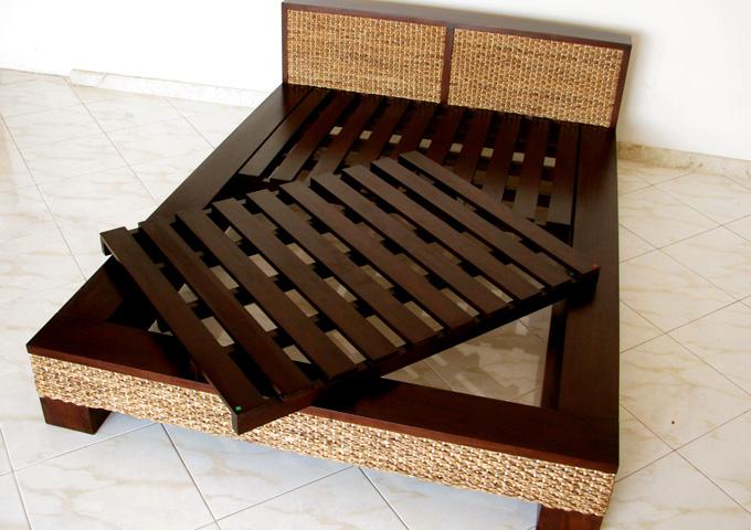 アジアン家具 ウォーターヒヤシンスのベッド WBD-01(S)