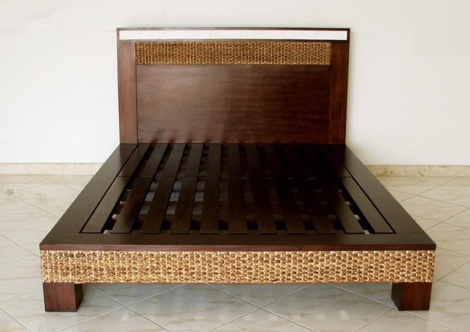 アジアン家具 ウォーターヒヤシンスのベッド WBD-03
