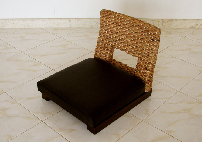 アジアン家具 ウォーターヒヤシンスの座椅子 WC-14