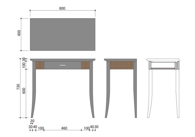 アジアン家具 ウォーターヒヤシンスのデスク WDK-03