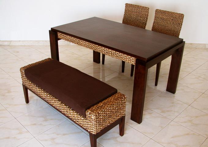 アジアン家具 ウォーターヒヤシンスのダイニングテーブル WDT-01