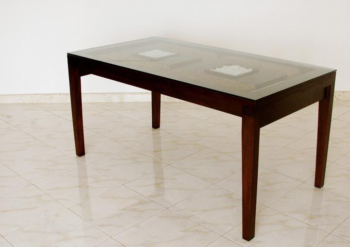 アジアン家具 ウォーターヒヤシンスのダイニングテーブル