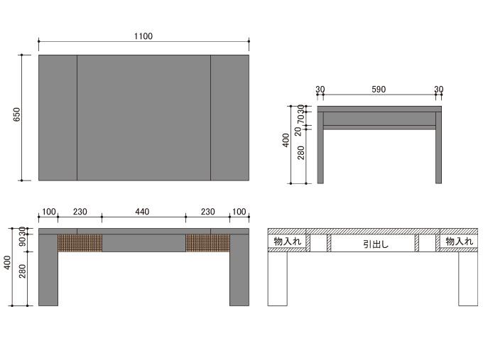 アジアン家具 ウォーターヒヤシンスのテーブル WLT-03