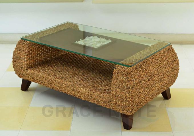 アジアン家具 ウォーターヒヤシンスのテーブル WLT-11