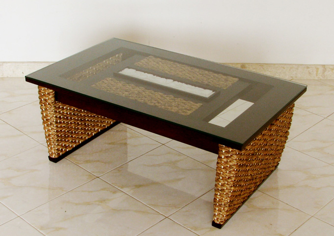 アジアン家具 ウォーターヒヤシンスのテーブル WLT-12