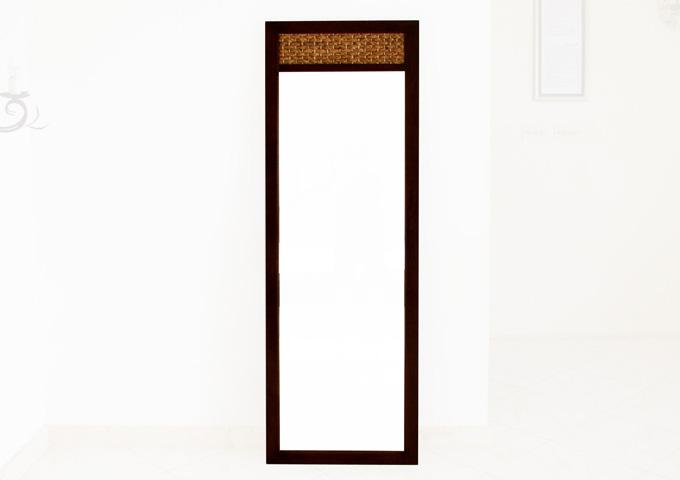 アジアン家具 ウォーターヒヤシンスの姿見鏡 WMR-02