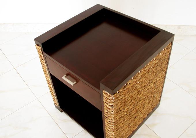 アジアン家具 ウォーターヒヤシンスのナイトテーブル WNT-01
