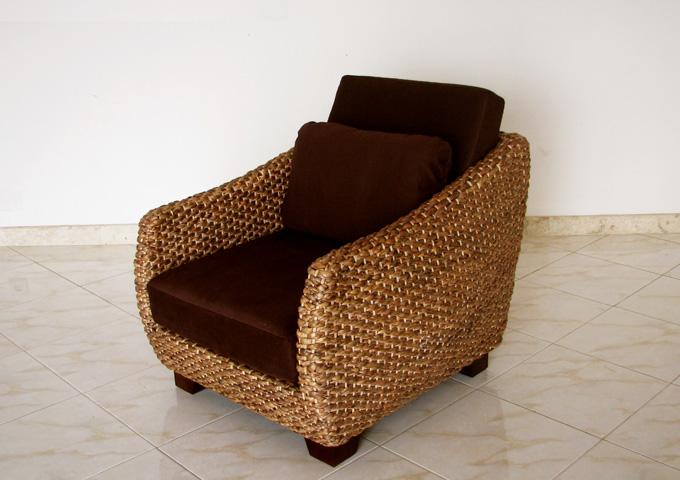 アジアン家具 ウォーターヒヤシンスソファの替えカバー
