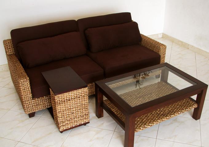 アジアン家具 ウォーターヒヤシンスのソファ WS30SET