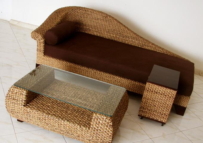 アジアン家具 ウォーターヒヤシンスのデイベッドソファ・カウチ WS50-R