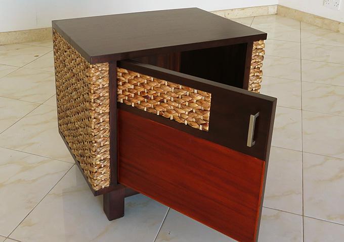 アジアン家具 ウォーターヒヤシンスのナイトテーブル WNT-03