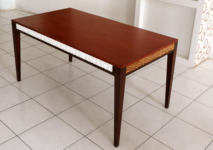 アジアン家具 ウォーターヒヤシンスのダイニングテーブル WDT-12