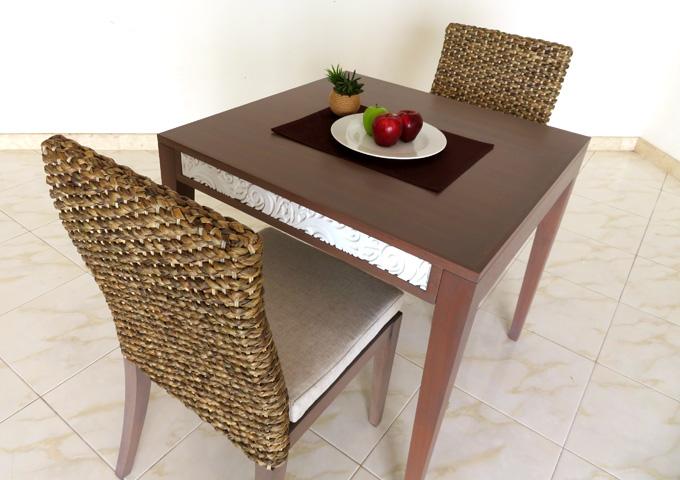 アジアン家具 ウォーターヒヤシンスのダイニングテーブルセット